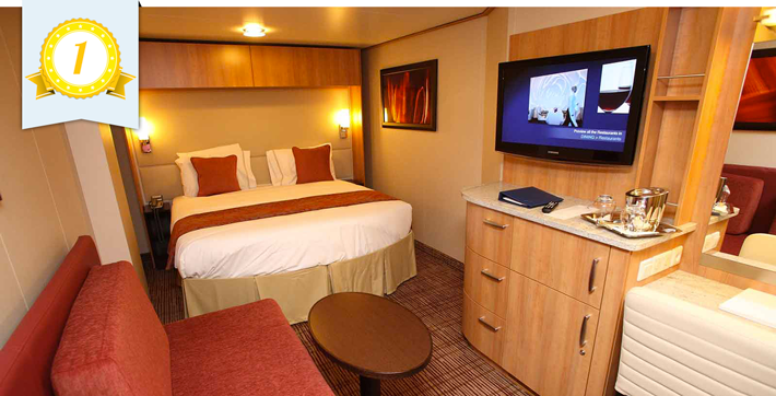 best cruise ship inside cabins celebrity
