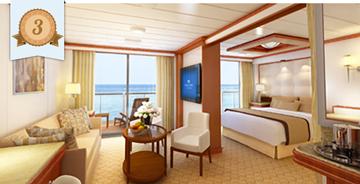 best cruise ship suite cunard