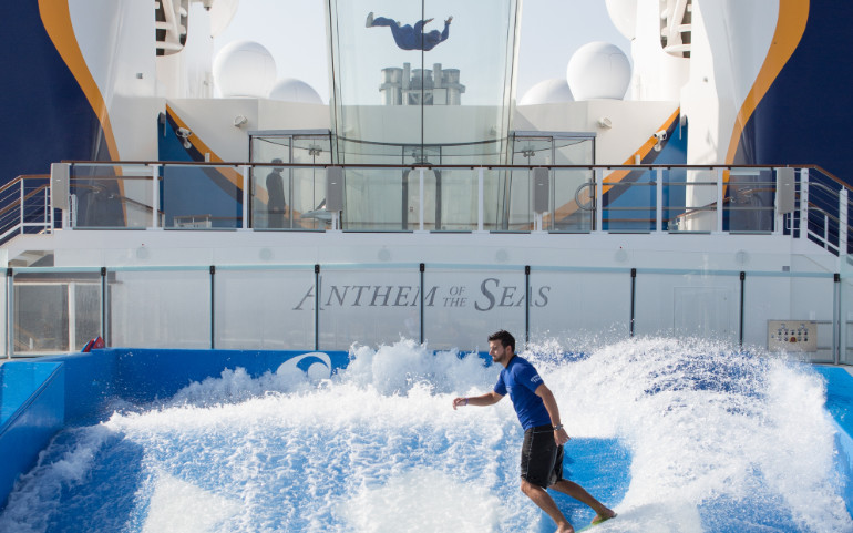 royal caribbean anthem flowrider sky diving
