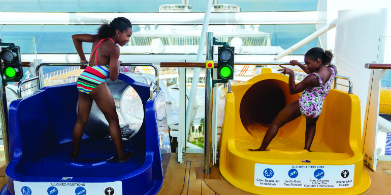 harmony of the seas perfect storm waterslides kids