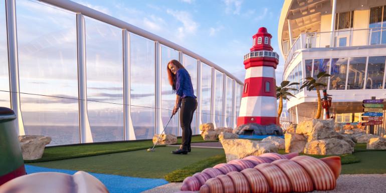 symphony mini golf putt putt activities cruise stress