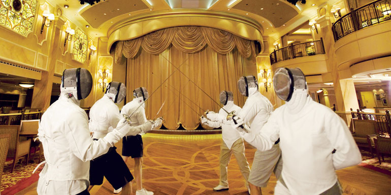 cunard fencing cruise ship workout
