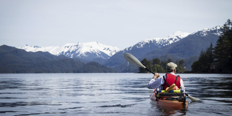 kayak alaska cruise exercise