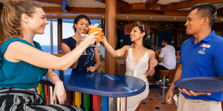 carnival cruise blueiguana tequila bar crew staff