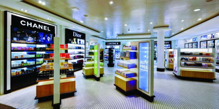 duty free shopping store cruise ship