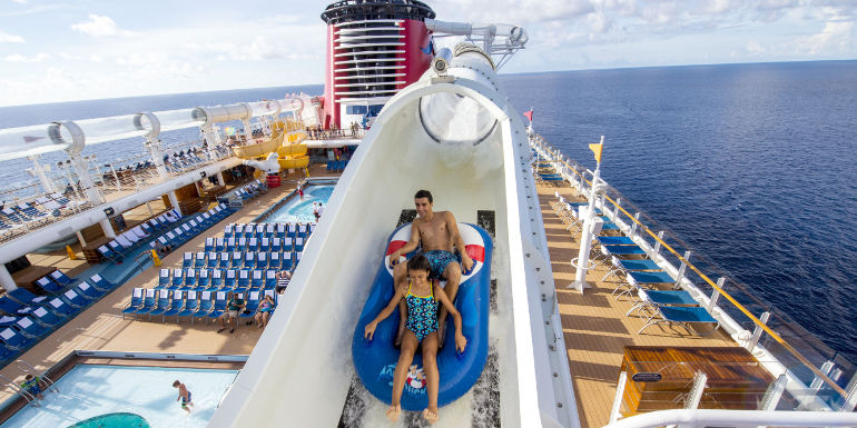 disney fantasy aquaduck water slide park