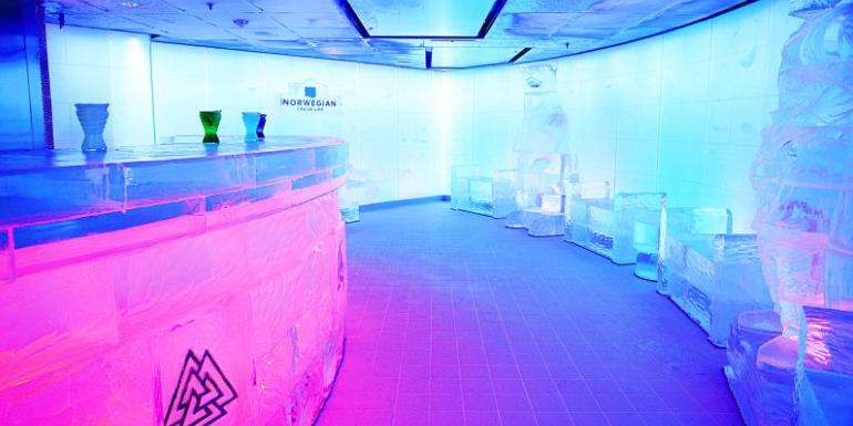 norwegian epic skyy vodka ice bar cruise ship