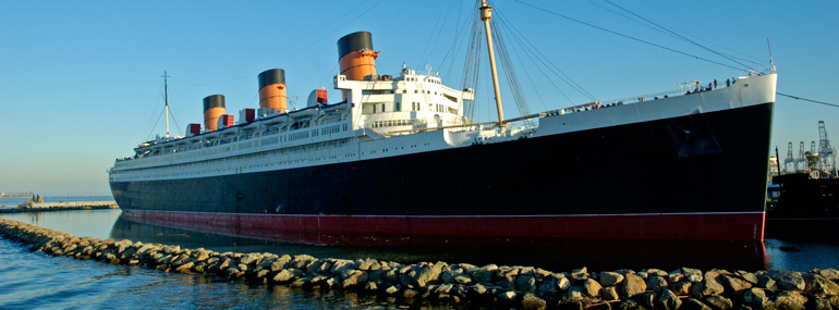 """On which Cunard ship were parts of """"The Poseidon Adventure"""" filmed?"""