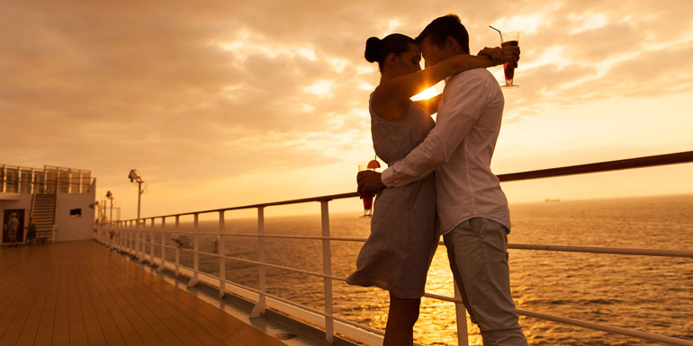 young in love couple cruise annoying