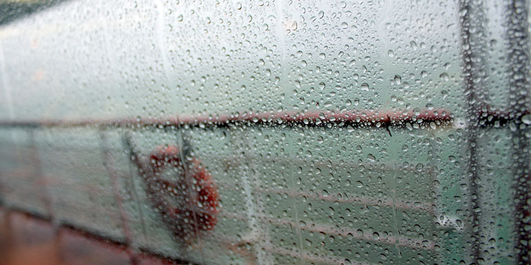 bad weather cruise ship rain storm