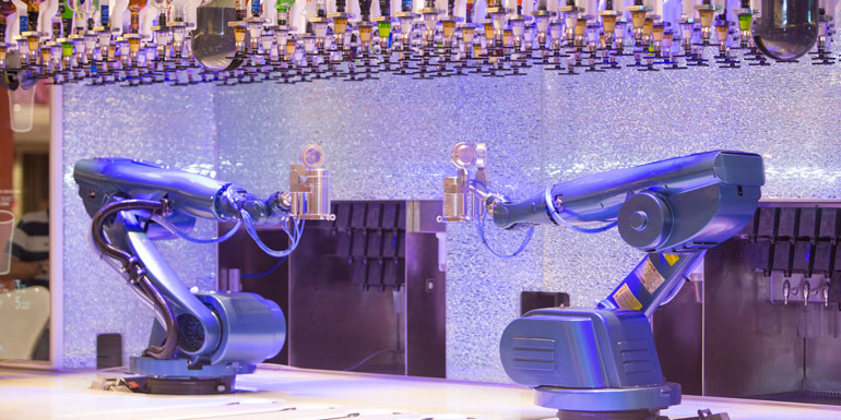 cruise ship innovations robot bartenders