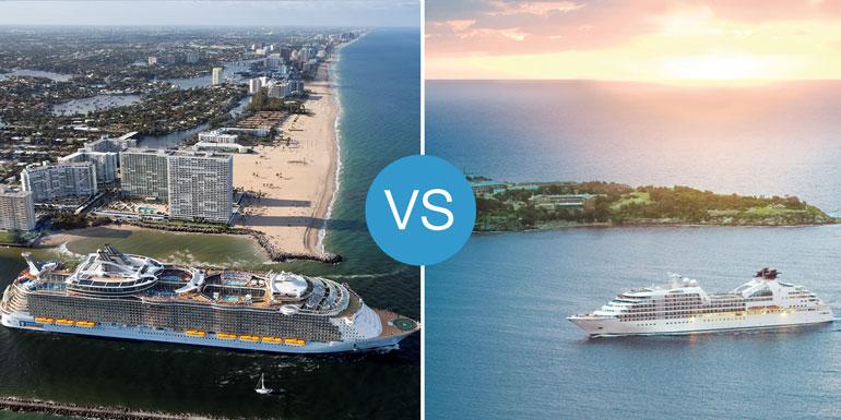 big ships small cruise ships better