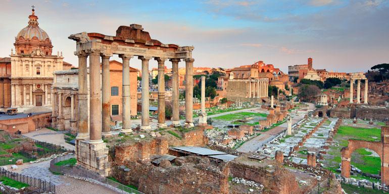 roman forum ruins med mediterranean cruise