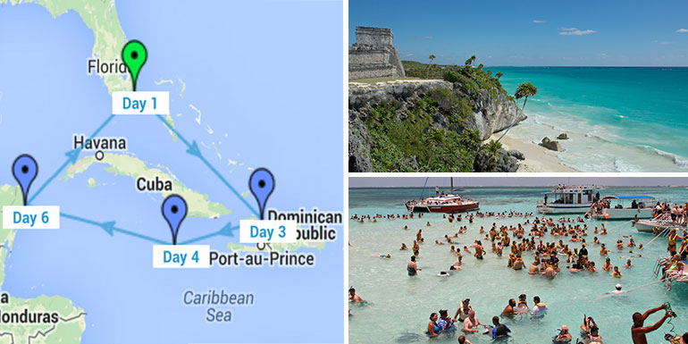 western caribbean cruise itinerary