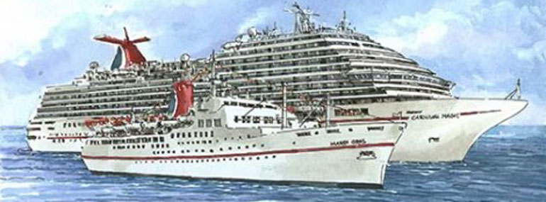 Carnival ships have been sailing for about how many years?