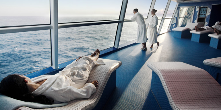 cruise lines with coed spa couples