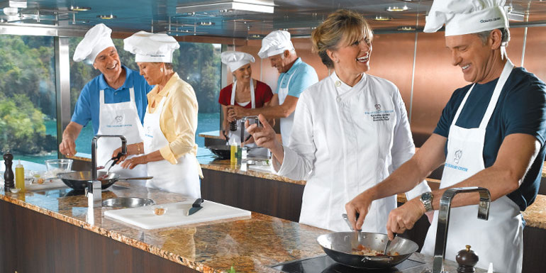 onboard cooking classes cruise ship culinary