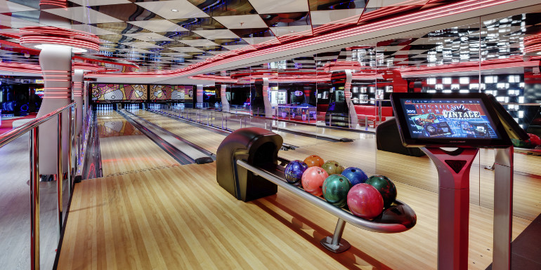 bowling alley lanes msc cruises seaside