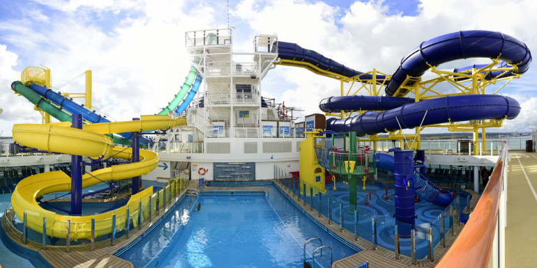 norwegian escape water park waterslides cruise