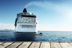 cruise ship leaving