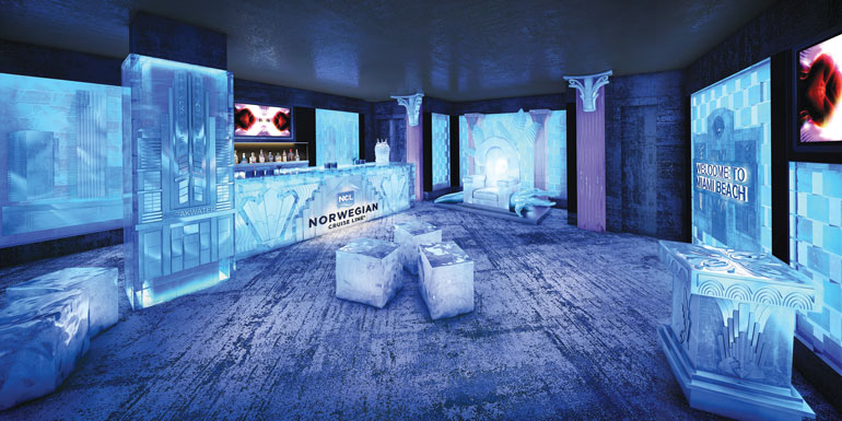 norwegian cruise skyy ice bar vodka