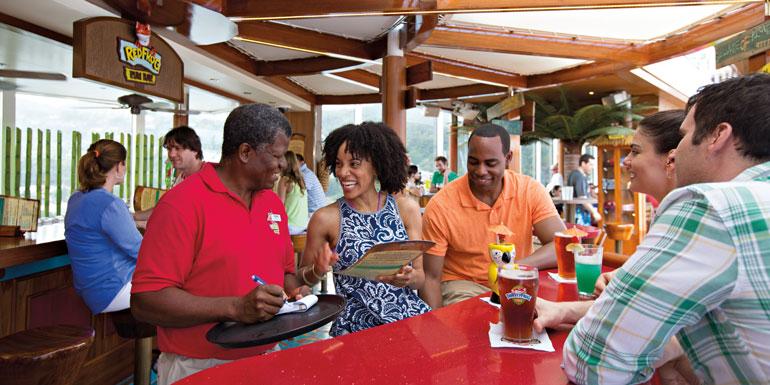 carnival cruise ship bar red forg