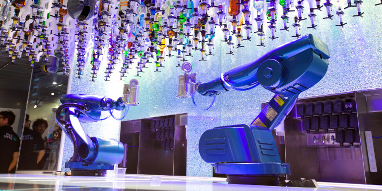 royal caribbean bionic bar robots cruise