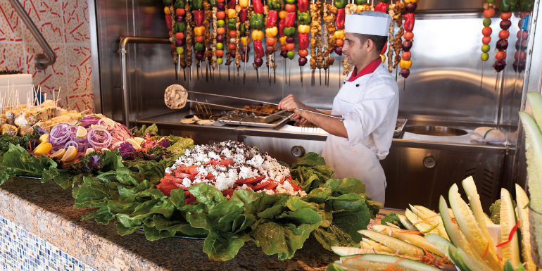 carnival cruise lido buffet dining food