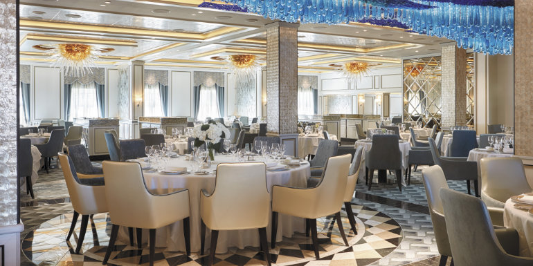 regent seven seas compass rose dining