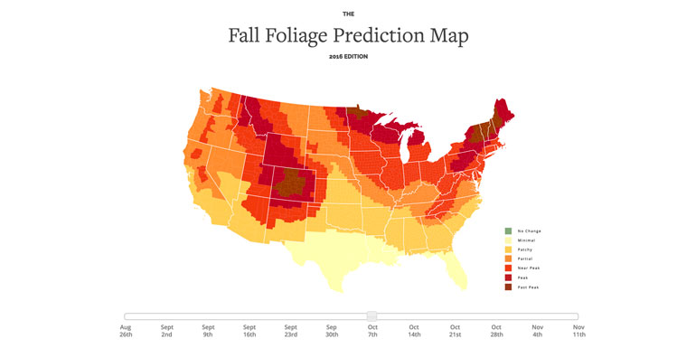 Fall Foliage Prediction Map 2020.Canada Fall Foliage Map