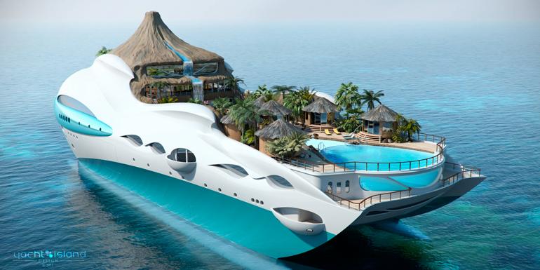 floating island cruise shiips