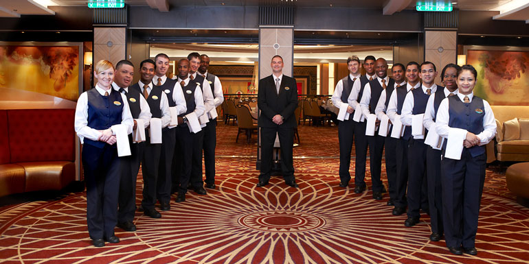 cruise ship crew staff above beyond