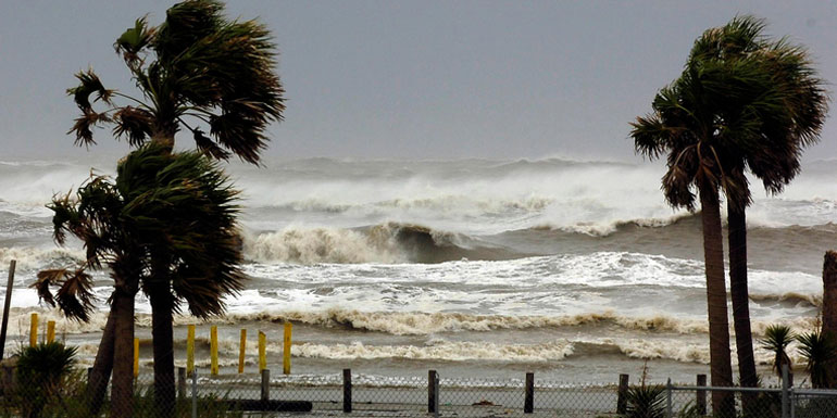 stormy beach caribbean hurricane season