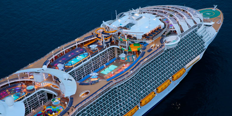 harmony of the seas largest ship