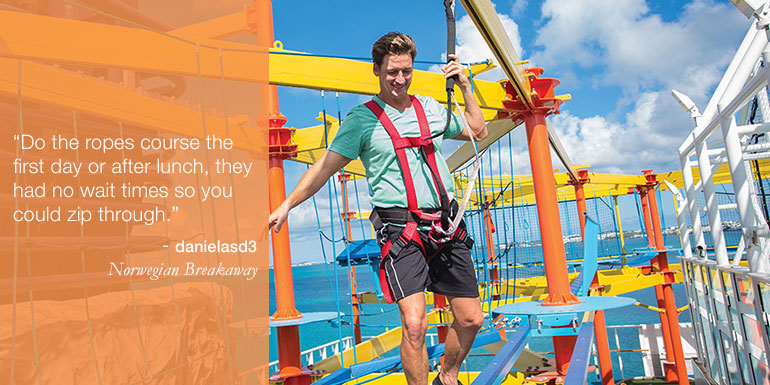 ncl cruise tips hacks ropes course
