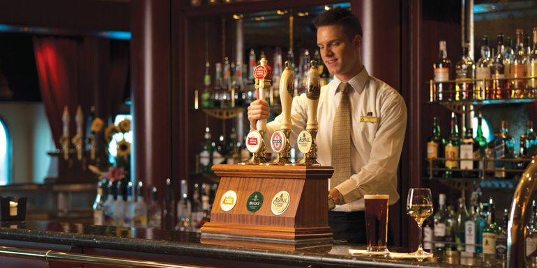 cunard line golden lion pub bar