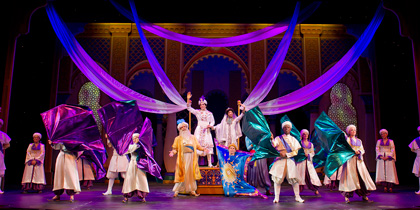cruise ship stage shows disney aladdin