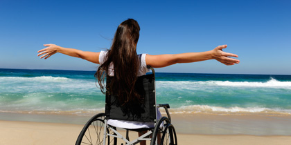 wheelchair handicap accessible friendly beach