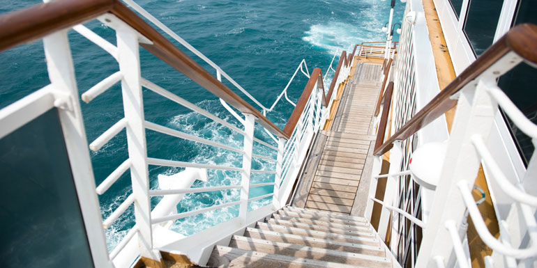 cruise ship stairs saftey tips