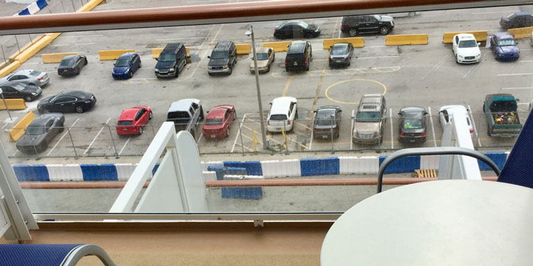 parking lot cruise ship