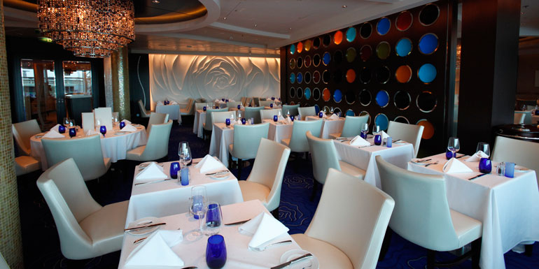 blu celebrity best cruise ship dining