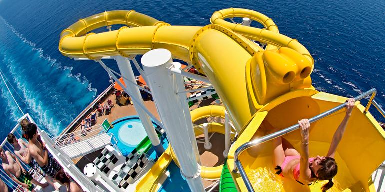 best cruise ship water slides craziest