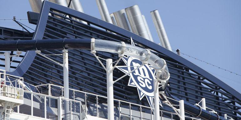 msc cruise ship water slide vertigo