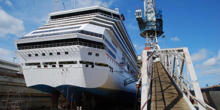 cruise ship dry dock construction maintenance