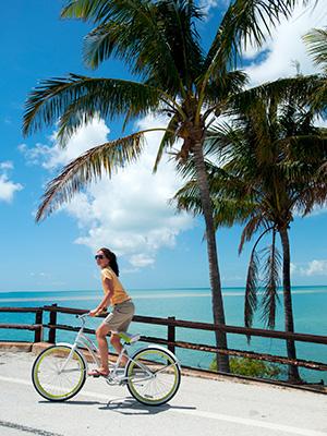 Biking in Key West florida