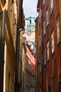 stockholm gamla stan Storkyrkan clock tower