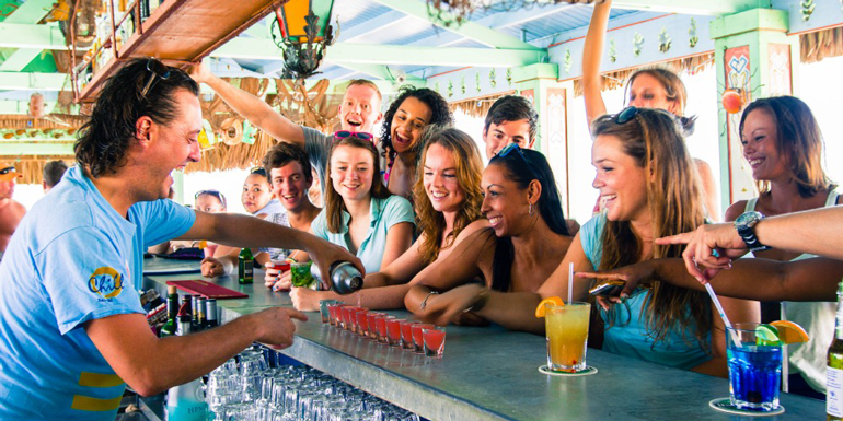 best beach bars caribbean cruise
