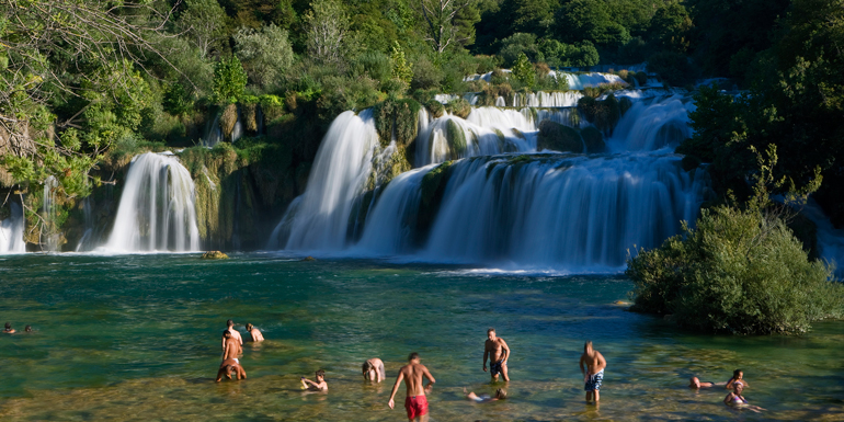 krka national park waterfall mediterranean excursions