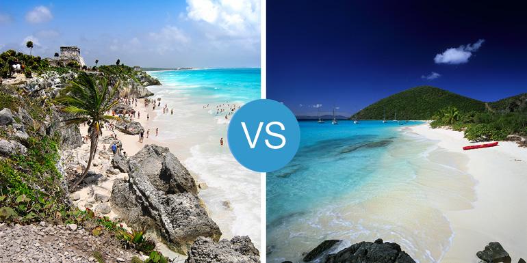 eastern vs western caribbean cruise beaches