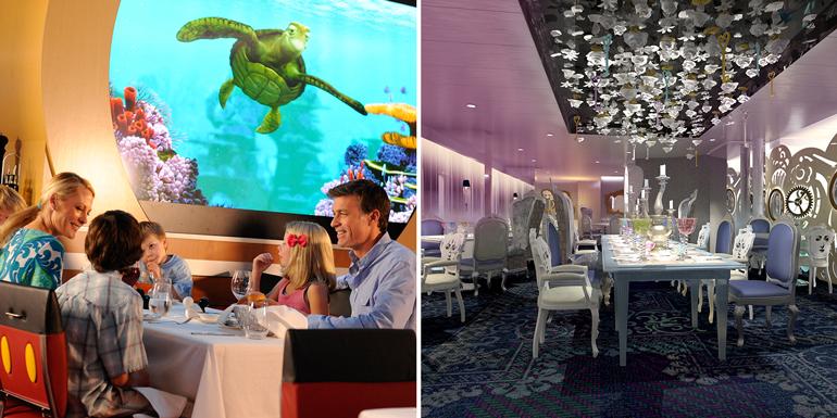 disney royal caribbean dining cruise food
